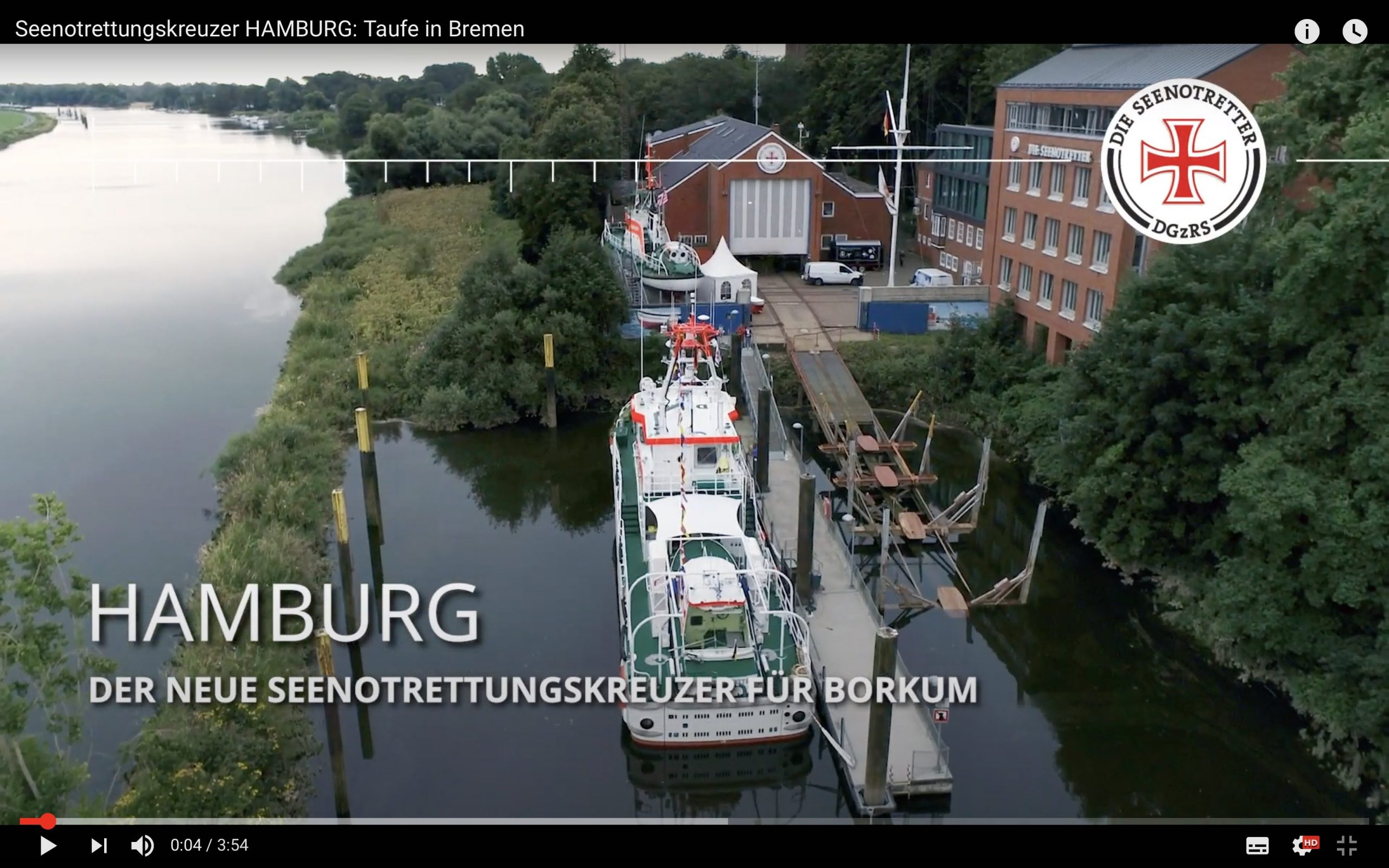 Rettungskreuzer Hamburg Taufe