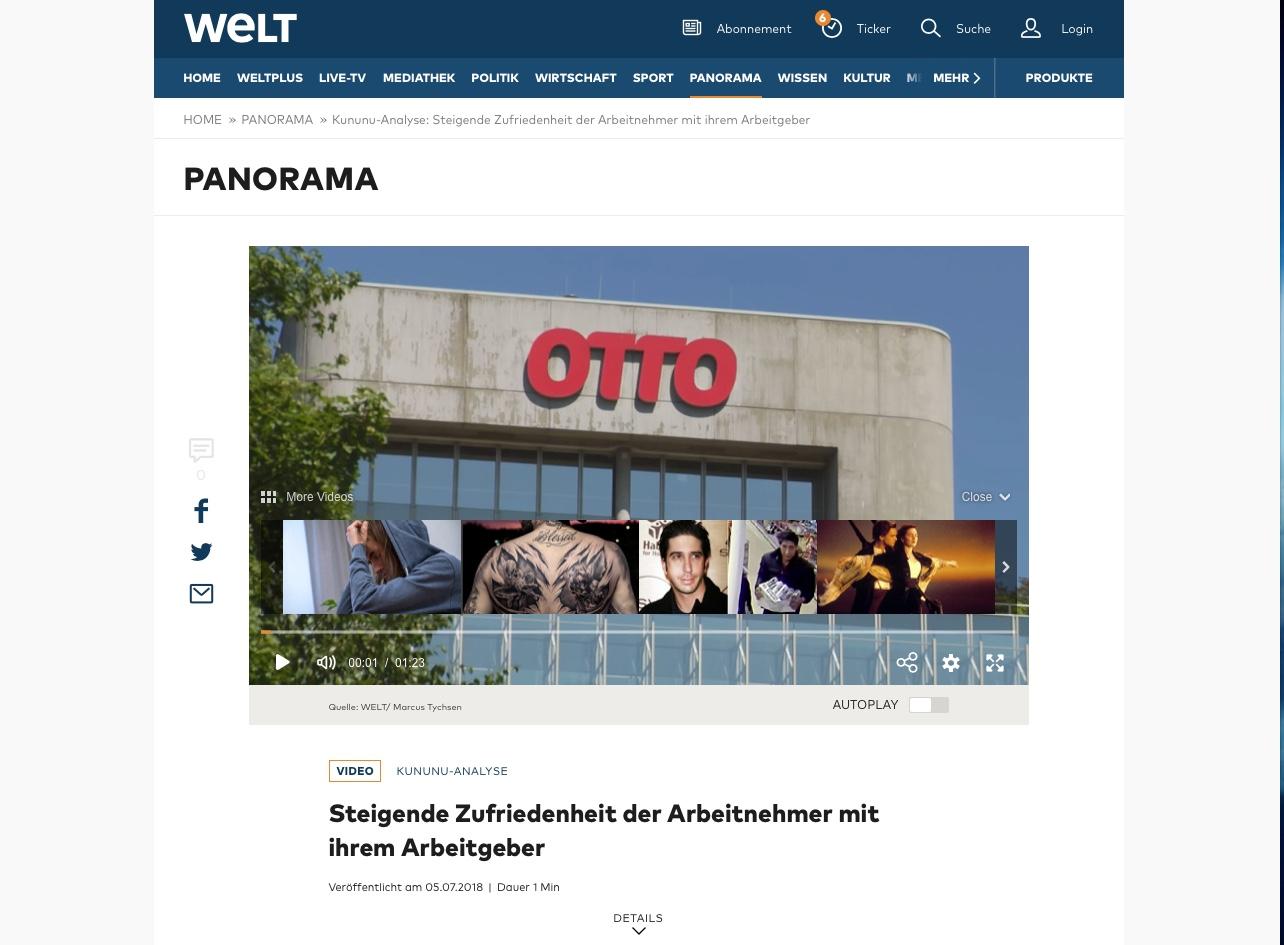 WeltN24 Webseite
